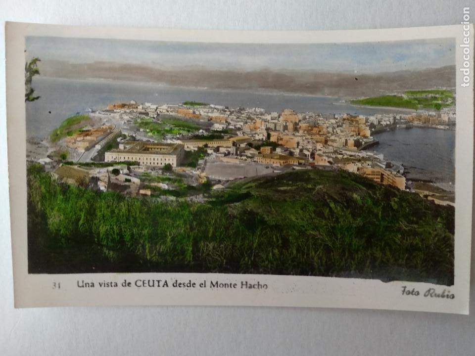 CEUTA. UNA VISTA DESDE EL MONTE HACHO. FOTO RUBIO Nº 31. (Postales - España - Ceuta Moderna (desde 1940))