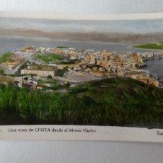 Postales: CEUTA. UNA VISTA DESDE EL MONTE HACHO. FOTO RUBIO Nº 31.. Lote 233824225