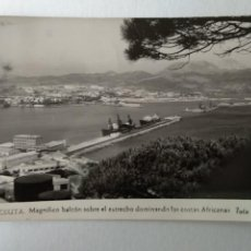 Cartoline: CEUTA MAGNIFICO BALCON SOBRE ESTRECHO DOMINANDO COSTAS AFRICANAS. FOTO RUBIO Nº 21.. Lote 233826980