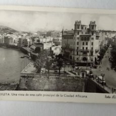 Cartes Postales: CEUTA UNA VISTA DE UNA CALLE PRINCIPAL DE LA CIUDAD AFRICANAS. FOTO RUBIO Nº 8.. Lote 233827330