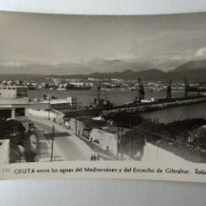 Cartoline: CEUTA ENTRE LAA AGUAS MEDITERRANEO Y ESTRECHO DE GIBRALTAR. FOTO RUBIO Nº131.. Lote 233829395