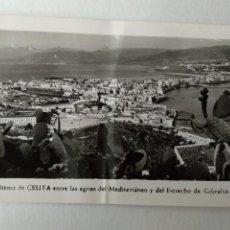 Cartes Postales: CEUTA EL ITSMO AGUAS MEDITERRANEO Y ESTRECHO DE GIBRALTAR. FOTO RUBIO Nº26.. Lote 233830515