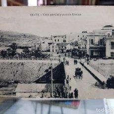 Postales: ANTIGUA POSTAL PUENTE ALMINA CEUTA M. ARRIBAS 1921. Lote 234168125