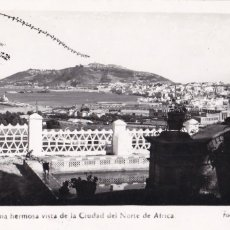 Postales: CEUTA, UNA VISTA DE LA CIUDAD. ED. FOTO RUBIO Nº 22. CIRCULADA. Lote 234738650