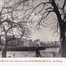 Postales: CEUTA, UNA VISTA DE LA CIUDAD. ED. FOTO RUBIO Nº 126. SIN CIRCULAR. Lote 234739065