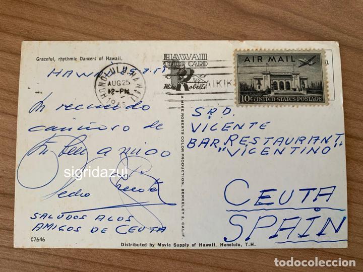 Postales: PEDRO CHICOTE PERICO CHICOTE POSTAL HAWAI BAR VICENTINO CEUTA - Foto 2 - 234944420