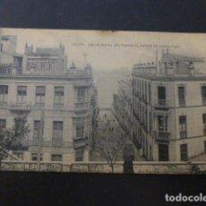 Postales: CEUTA CALLE ALFAU AL FONDO EL PEÑON DE GIBRALTAR. Lote 236075275
