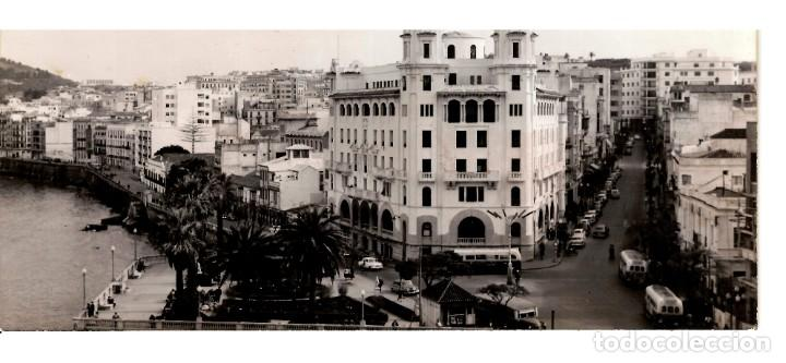 CEUTA - VISTA PARCIAL (1) - POSTAL PANORÁMICA DE PEQUEÑAS DIMENSIONES - 153X80MM. FOTO GARCÍA CORTÉS (Postales - España - Ceuta Moderna (desde 1940))
