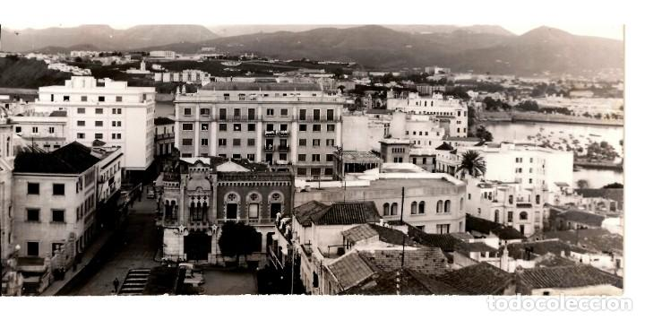 CEUTA. VISTA PARCIAL (2). POSTAL PANORÁMICA DE PEQUEÑAS DIMENSIONES 153X80. FOTO GARCÍA CORTÉS (Postales - España - Ceuta Moderna (desde 1940))