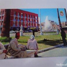 Postales: ANTIGUA POSTAL CPSM,CEUTA, FUENTE GENERAL GALERA Y MERCADO, VER FOTOS. Lote 242848710