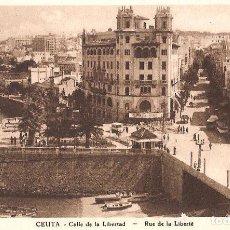 Postales: CEUTA - CALLE DE LA LIBERTAD. Lote 243354615