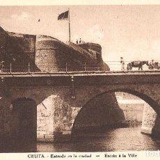 Postales: CEUTA - ENTRADA EN LA CIUDAD. Lote 243354750