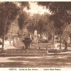 Postales: CEUTA - JARDIN DE SAN AMARO. Lote 243355200