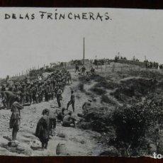 Postales: FOTOGRAFIA DE LA CAMPAÑA DEL RIF, LOMA DE LAS FRINCHERAS, NO CIRCULADA, MIDE 12 X 7,5 CMS.. Lote 243798395