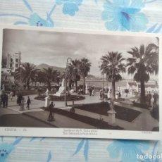 Postales: ANTIGUA POSTAL FOTOGRAFIA CEUTA - 15 JARDINES DE SAN SEBASTIAN, GUILERA. Lote 244673905