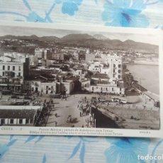 Postales: ANTIGUA POSTAL FOTOGRAFIA CEUTA -2 PUENTE DE ALMINA Y PARADA DE AUTOBUSES DE TETUAN, GUILERA. Lote 244674885
