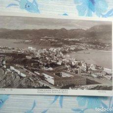 Postales: ANTIGUA POSTAL FOTOGRAFIA CEUTA 11 VISTA GENERAL DESDE EL HACHO, GUILERA. Lote 244675380