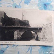 Postales: ANTIGUA POSTAL FOTOGRAFIA CEUTA PUENTE DEL CRISTO FOTO CALATAYUD. Lote 244676050
