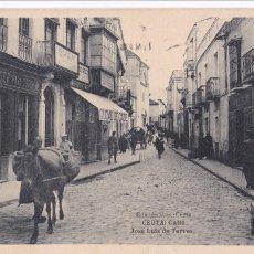 Cartes Postales: CEUTA, CALLE JOSE LUIS DE TORRES. ED. ROS, HAUSER Y MENET. CIRCULADA EN 1922. Lote 246990740