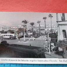 Cartoline: CEUTA ( AUTOBUS Y COCHE DE LA EPOCA - SEAT 600 ) - FOTO RUBIO ( NO CIRCULADA ) / ( NOV2021CONF). Lote 252743270