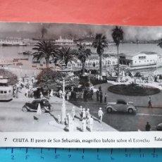 Cartoline: CEUTA ( AUTOBUS Y COCHES DE LA EPOCA ) - FOTO RUBIO ( NO CIRCULADA ) / ( NOV2021CONF). Lote 252744290