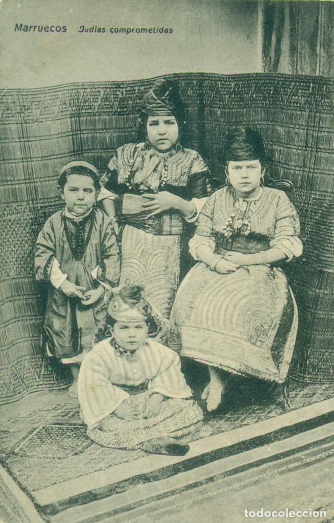 MARRUECOS. JUDIAS COMPROMETIDAS. HACIA 1910.MUY RARA. (Postales - España - Ceuta Antigua (hasta 1939))