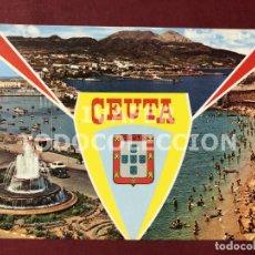 Postales: POSTAL CEUTA BELLEZAS DE LA CIUDAD, AÑOS 70. Lote 254373140