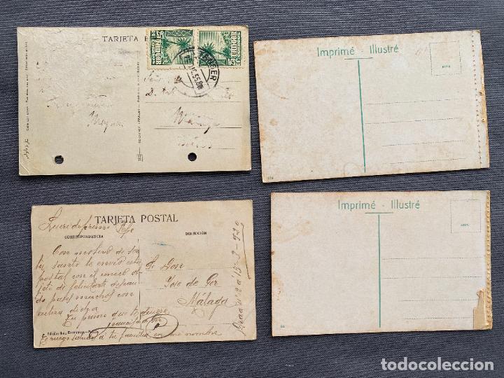 Postales: VENDEDOR DE CHUMBOS MELILLA , BERTUCHI , TANGER , 4 POSTALES ANTIGUAS - Foto 2 - 254395675
