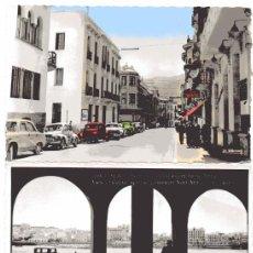 Postales: AD304 CEUTA: LOTE 3 FOTO POSTAL – INC FRANCISCO RUBIO (1920'S) / SELLO AZUL COMITE LOCAL TURISMO. Lote 254465505