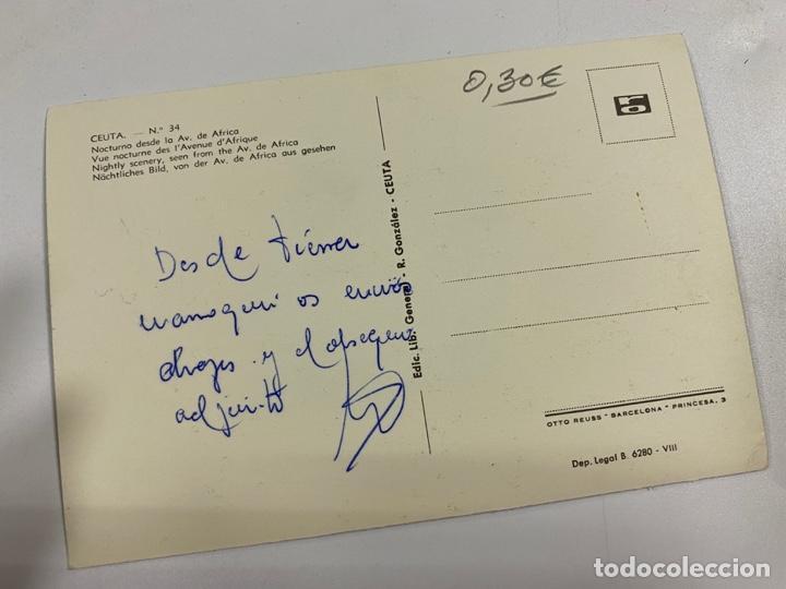 Postales: TARJETA POSTAL. CEUTA. Nº 34.- NOCTURNO DESDE LA AV. DE AFRICA - Foto 2 - 254814650