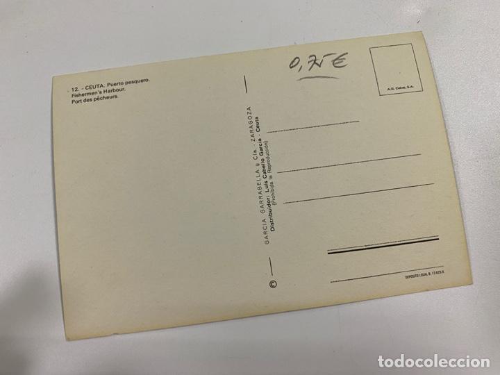 Postales: TARJETA POSTAL. CEUTA. 12.- PUERTO PESQUERO. GARCIA GARRABELLA Y CIA - Foto 2 - 254814765