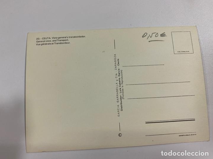 Postales: TARJETA POSTAL. CEUTA. 20.- VISTA GENERAL Y TRANSBORDADOR. GARCIA GARRABELLA Y CIA - Foto 2 - 254814845