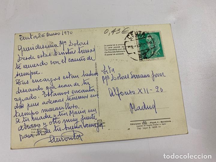 Postales: TARJETA POSTAL. CEUTA. 20.- VISTA GENERAL. EDICIONES FISA - Foto 2 - 254814975