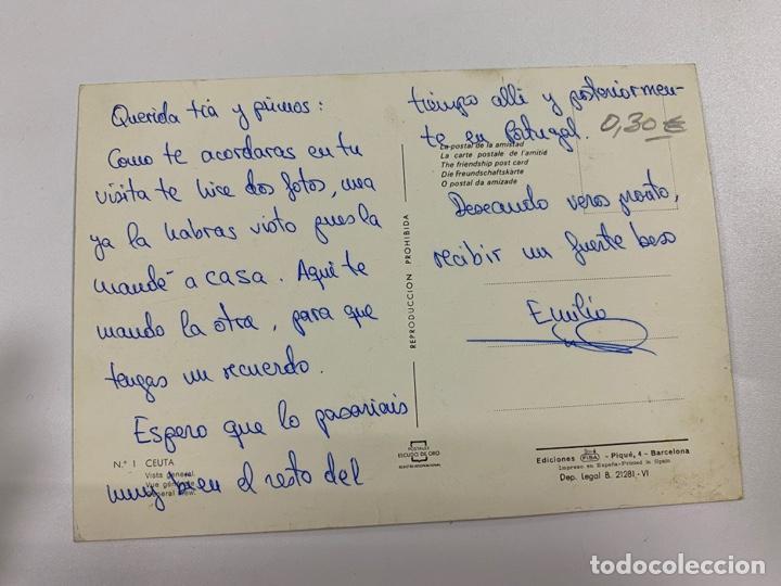 Postales: TARJETA POSTAL. CEUTA. Nº 1.- VISTA GENERAL. POSTALES ESCUDO DE ORO - Foto 2 - 254815010