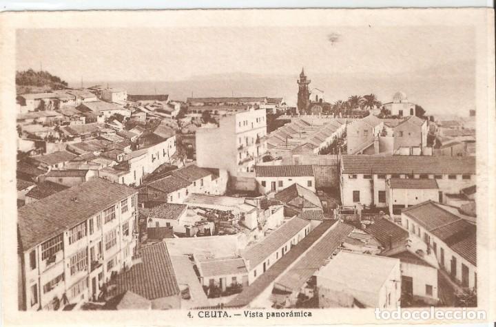 CEUTA Nº 4 VISTA PANORÁMICA SIN DATOS SIN CIRCULAR (Postales - España - Ceuta Moderna (desde 1940))