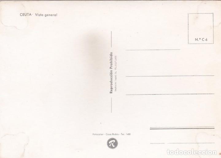 Postales: POSTAL VISTA GENERAL CEUTA (1965) - Foto 2 - 256075740