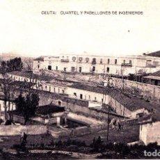 Postales: CEUTA - CUARTEL Y PABELLONES DE INGENIEROS. Lote 258234500