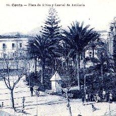 Postales: CEUTA - PLAZA DE AFRICA Y CUARTEL DE ARTILLERIA. Lote 258234545