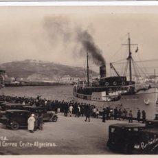 Cartes Postales: CEUTA, LLEGADA DEL CORREO CEUTA ALGECIRAS. ED. RAPIDE Nº 11. POSTAL FOTOGRAFICA CIRCULAR. Lote 260419670