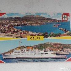 Postales: POSTAL DE CEUTA - VISTA GENERAL Y TRANSBORDADOR - AÑO 1967 - ESCRITA. Lote 260569375