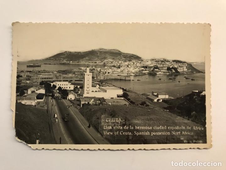 CEUTA. POSTAL FOTOGRAFÍCA UNA VISTA DE LA HERMOSA CIUDAD ESPAÑOLA DE AFRICA. FOTO RUBIO (Postales - España - Ceuta Moderna (desde 1940))