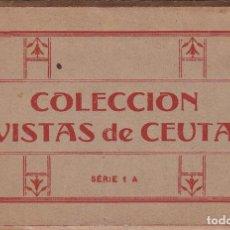 Postales: CEUTA. BLOC COMPLETO EN ACORDEON CON 10 POSTALES. NO CONSTA EDITOR. Lote 261999840