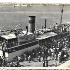 Postales: CEUTA (ÁFRICA) UNA VISTA DEL PUERTO Y LLEGADA DEL VAPOR CORREO - FOTO FRANCISCO RUBIO AÑO 1946. Lote 262941030