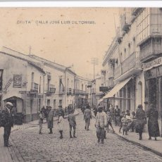 Postais: CEUTA CALLE JOSE LUIS DE TORRES. ED. HAUSER Y MENET. ESCRITA. Lote 262948690