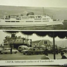 Postales: POSTAL CEUTA EMBARCANDO COCHES TRANSBORDADOR.--ESCRITA CM. Lote 263215985