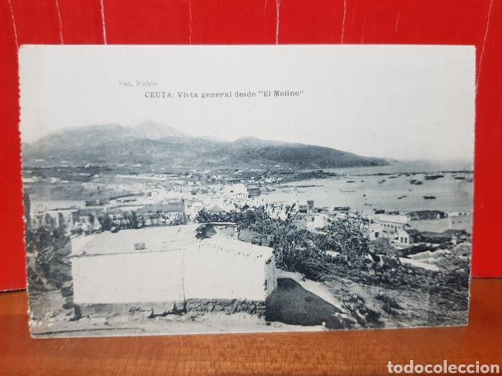 POSTAL ANTIGUA - CEUTA - VISTA GENERAL DESDE EL MOLINO AÑOS 20 (Postales - España - Ceuta Antigua (hasta 1939))
