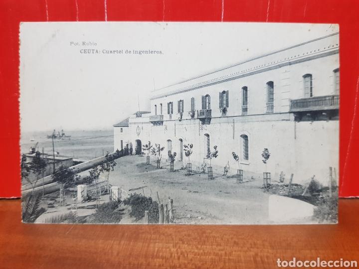 POSTAL ANTIGUA - CEUTA - CUARTEL DE INGENIEROS AÑOS 20 (Postales - España - Ceuta Antigua (hasta 1939))