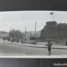 Postales: CEUTA PUENTE DEL CRISTO F. PEREZ FOTOGRAFO POSTAL FOTOGRAFICA. Lote 275320523