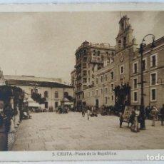 Postales: CEUTA PLAZA DE LA REPUBLICA ED. L. ROISIN. Lote 276612988