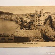 Postales: CEUTA. POSTAL NO.1, VISTA DE LA MARINA. EDIC., M. ARRIBAS (H.1940?) S/C. Lote 276752413